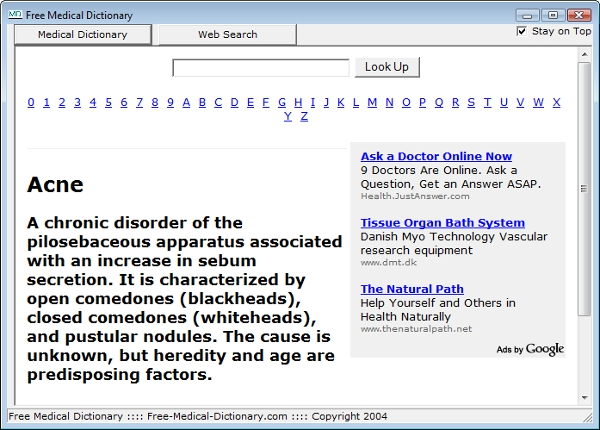 free medical dictionary