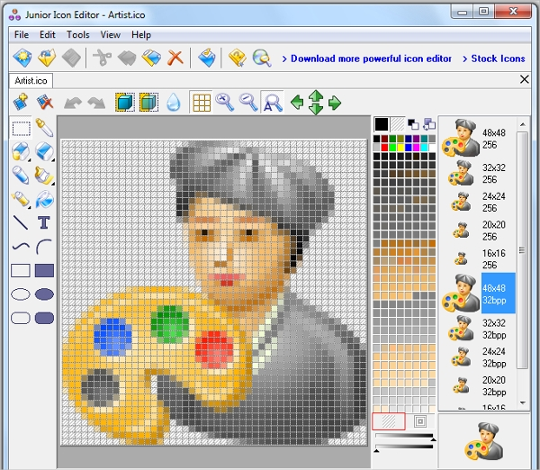 junior icon editor software