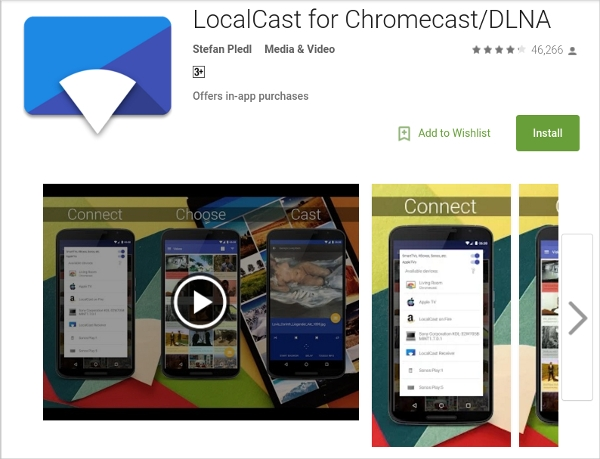 localcast – supporting various file formats