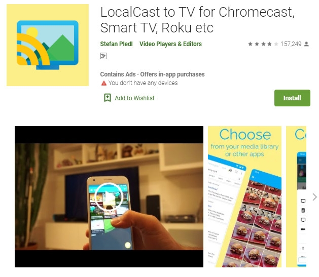 localcast supporting various file formats