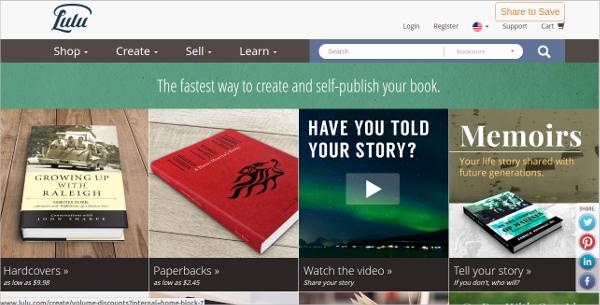 lulu online book publishing
