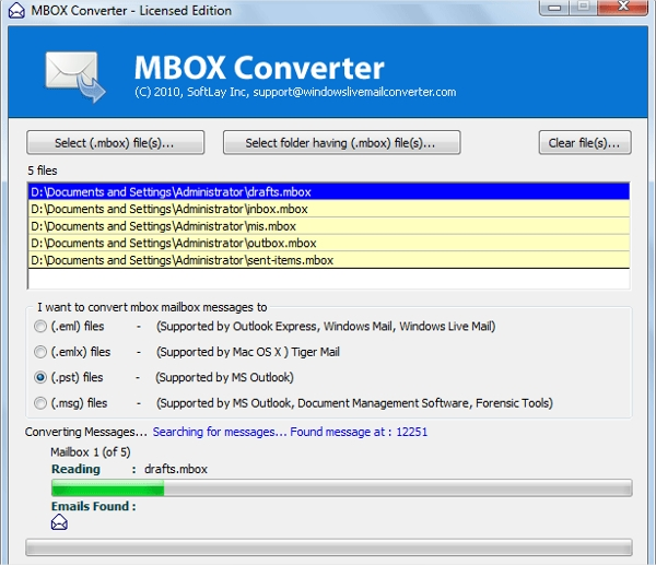 mbox email extractor