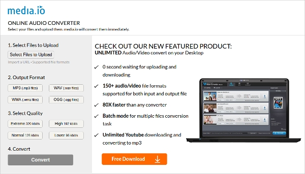 media online audio converter