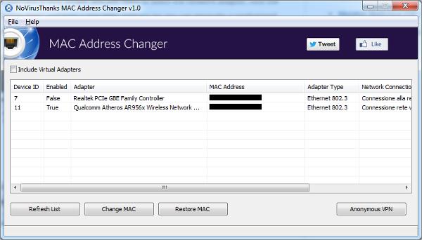 no virus thanks mac address changer