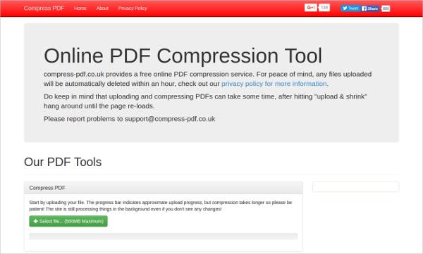 online pdf compression tool