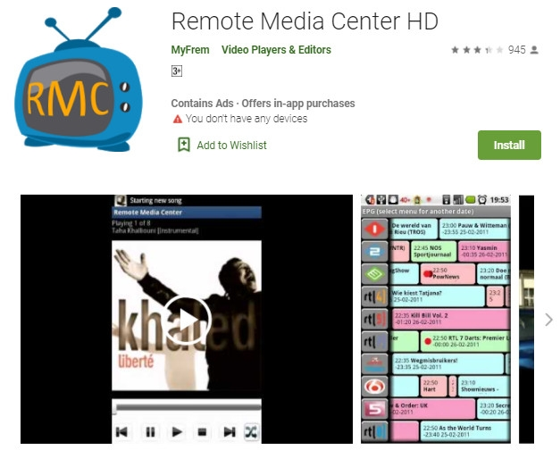 remote media center hd controlling windows media center