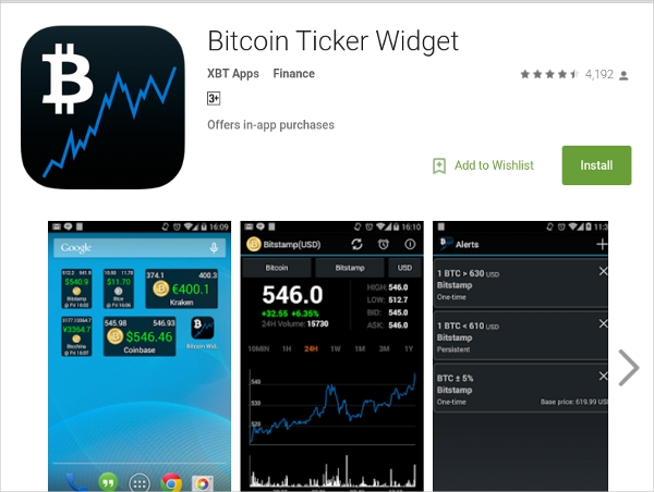 bitcoin ticker widget – free app that is not only easiest but also quick