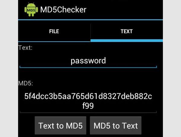 md5 checke