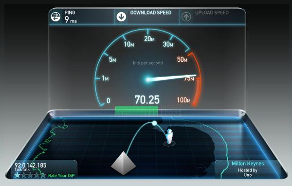 ookla speed test