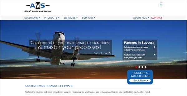 ams aircraft maintenance software