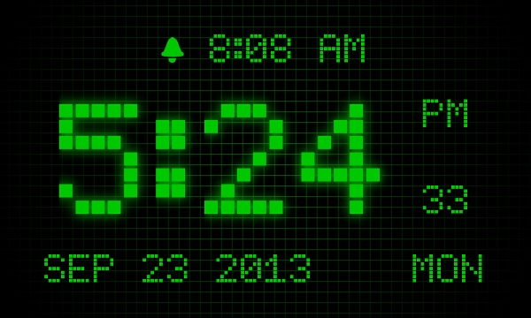 alarm digital clock 7