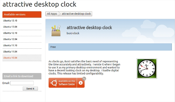 attractive desktop clock