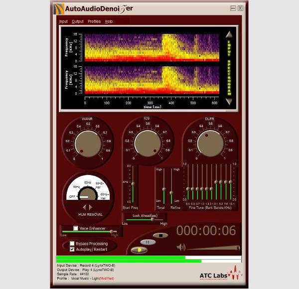 automatic audio denoizer