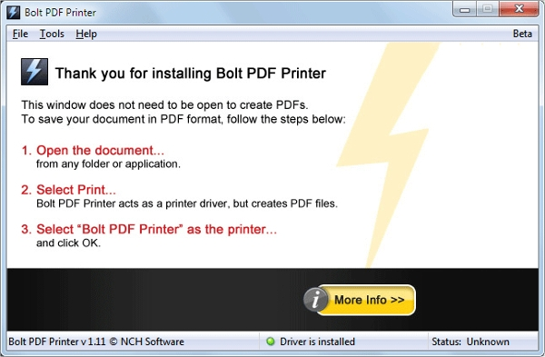bolt pdf printer