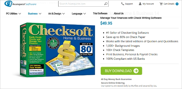 checksoft home and business