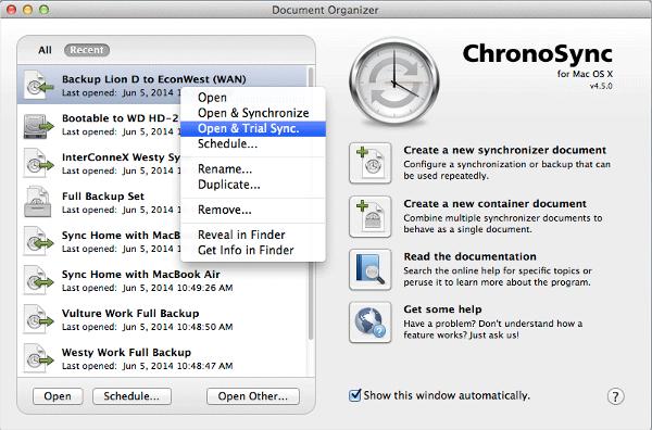 chronosync 4