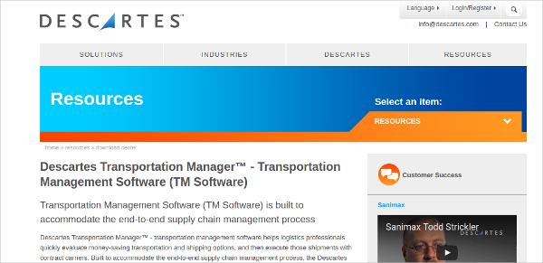 descartes transportation management