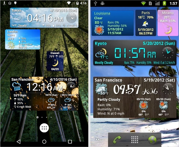 dual digit world clock widget