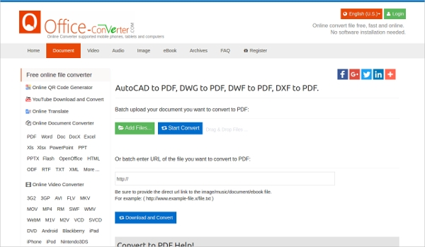free online dwg to pdf converter