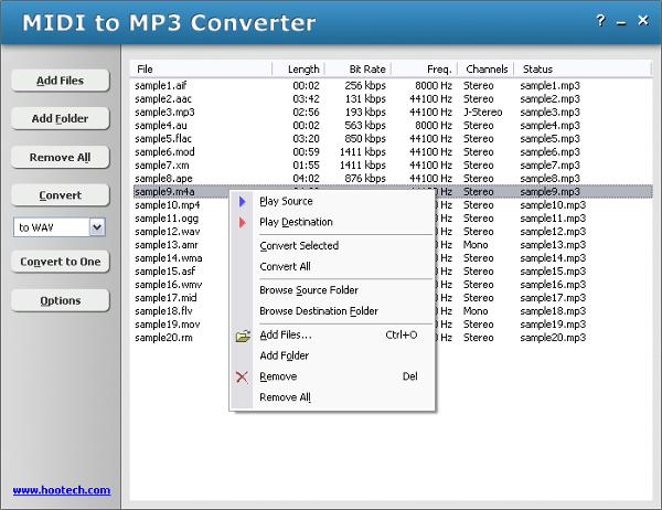 hootech midi to mp3 converter