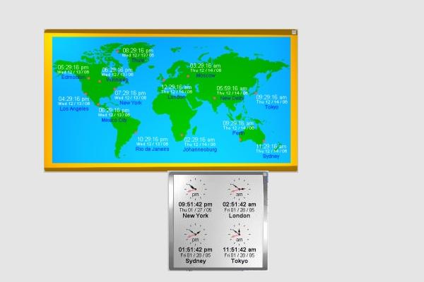 kybtec world clock