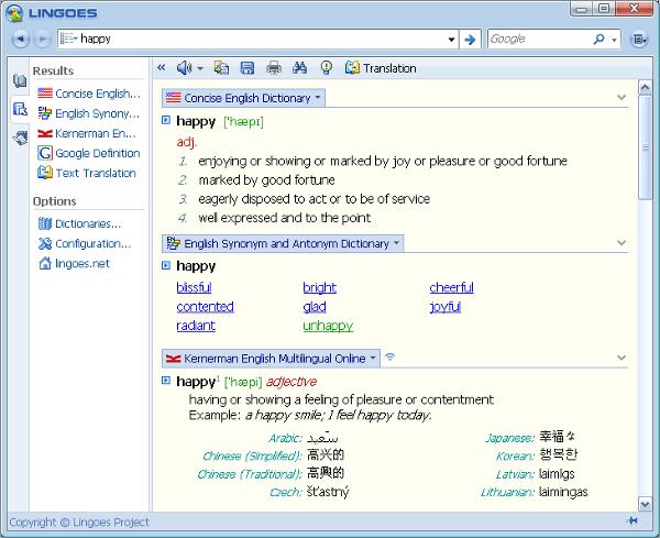 lingoes translator