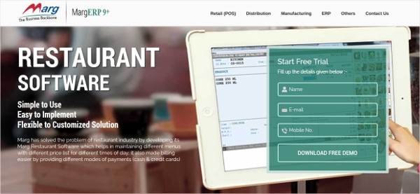 marg restaurant software