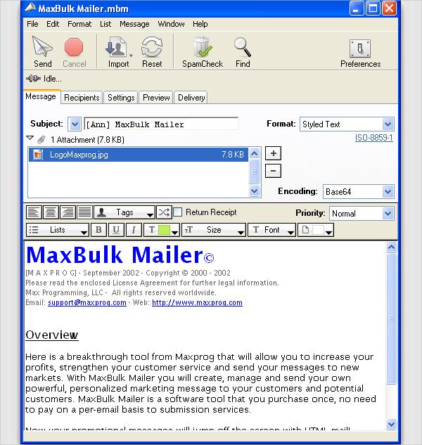Satori bulk mailer support