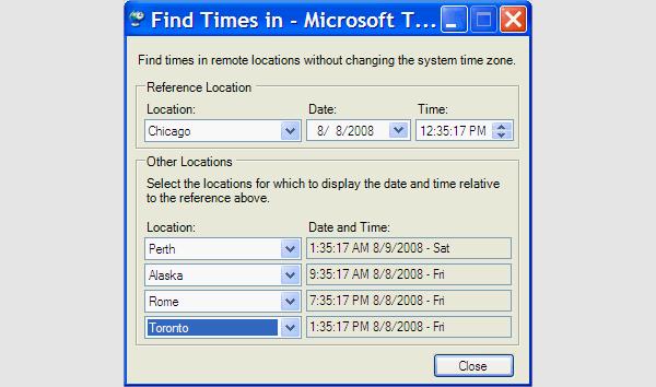 microsoft time zones