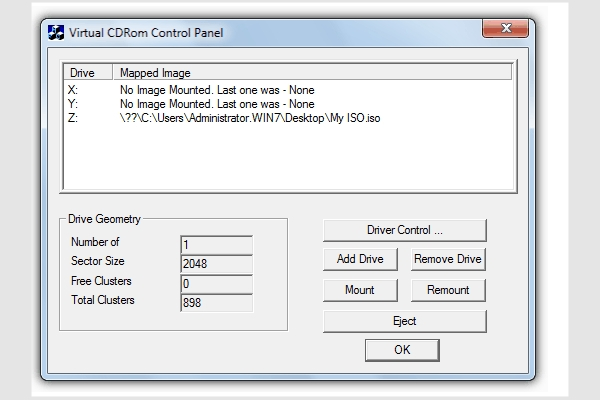 microsoft virtual cdrom control panel