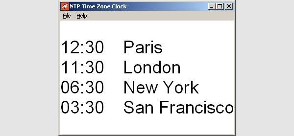 ntp time zone clock