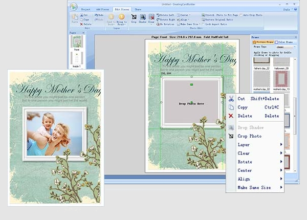 pearl mountain greeting card builder