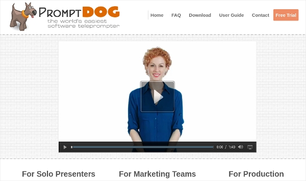promptdog teleprompter software