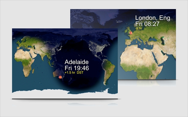 qlock world clock2