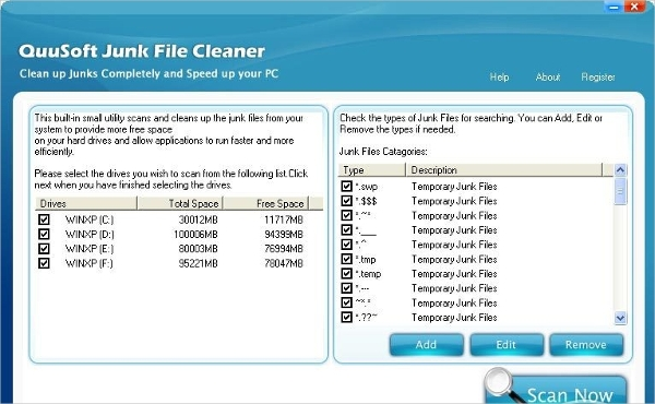 quusoft junk cleaner1