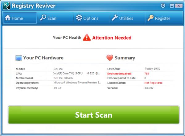 registry reviver dll error software