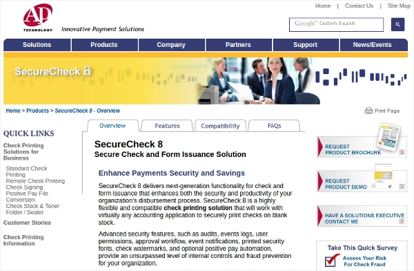 secure check writing software