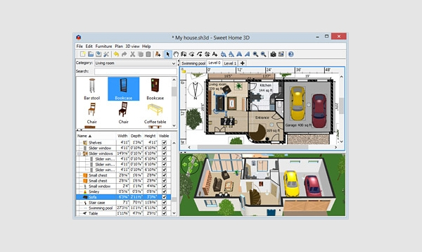 7 best floor plan software free download for windows mac for Plan 3d mac