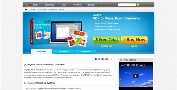 verypdf pdf to powerpoint converter
