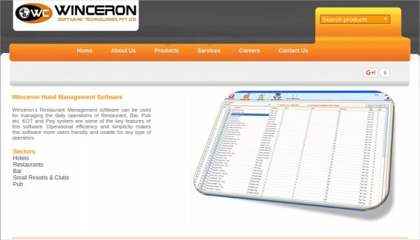 winceron hotel management software