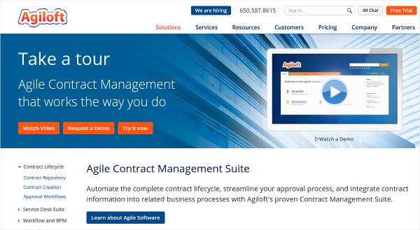 agile contract management suite