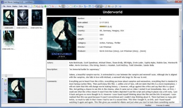 ant movie catalog