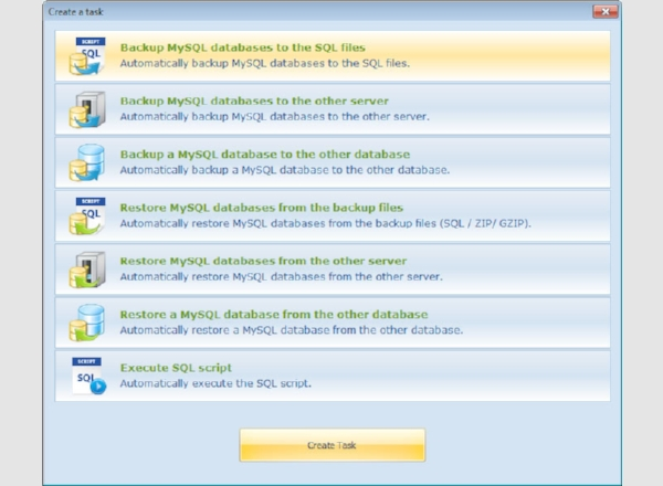 automatic backup scheduler for mysql