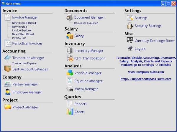compass business management suite
