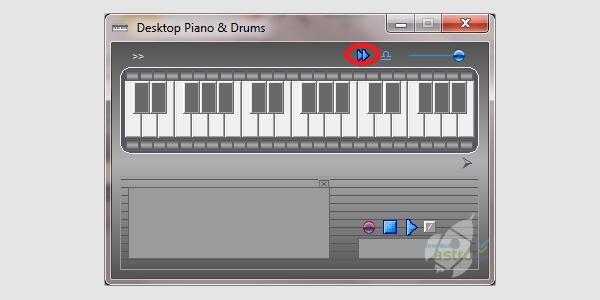 desktop piano drums