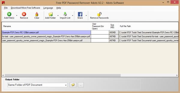 free pdf password remover v2