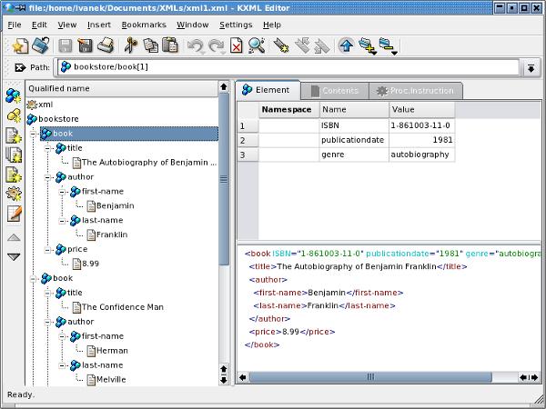 k xml editor