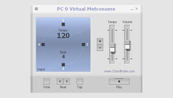 pc 9 virtual metronome