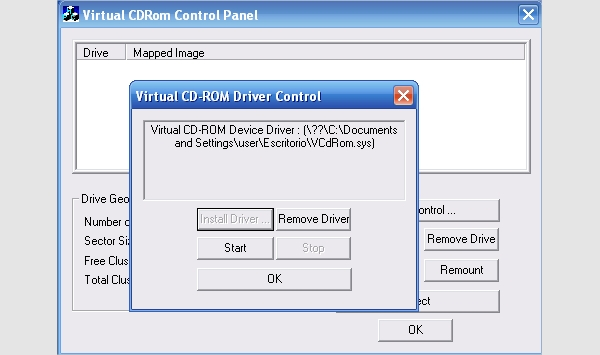 virtual cd rom control panel