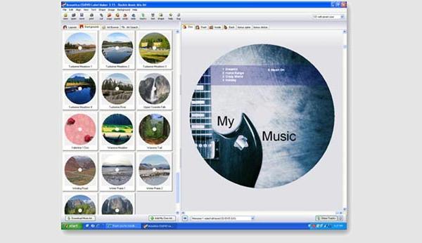 acoustica cd dvd label maker